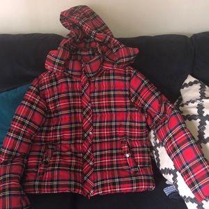 Puffy Plaid Jacket